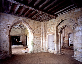 Ground floor of Denny Abbey, crossing from north east