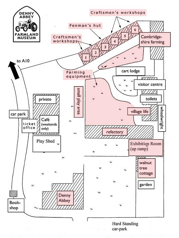Farmland Museum and Denny Abbey map