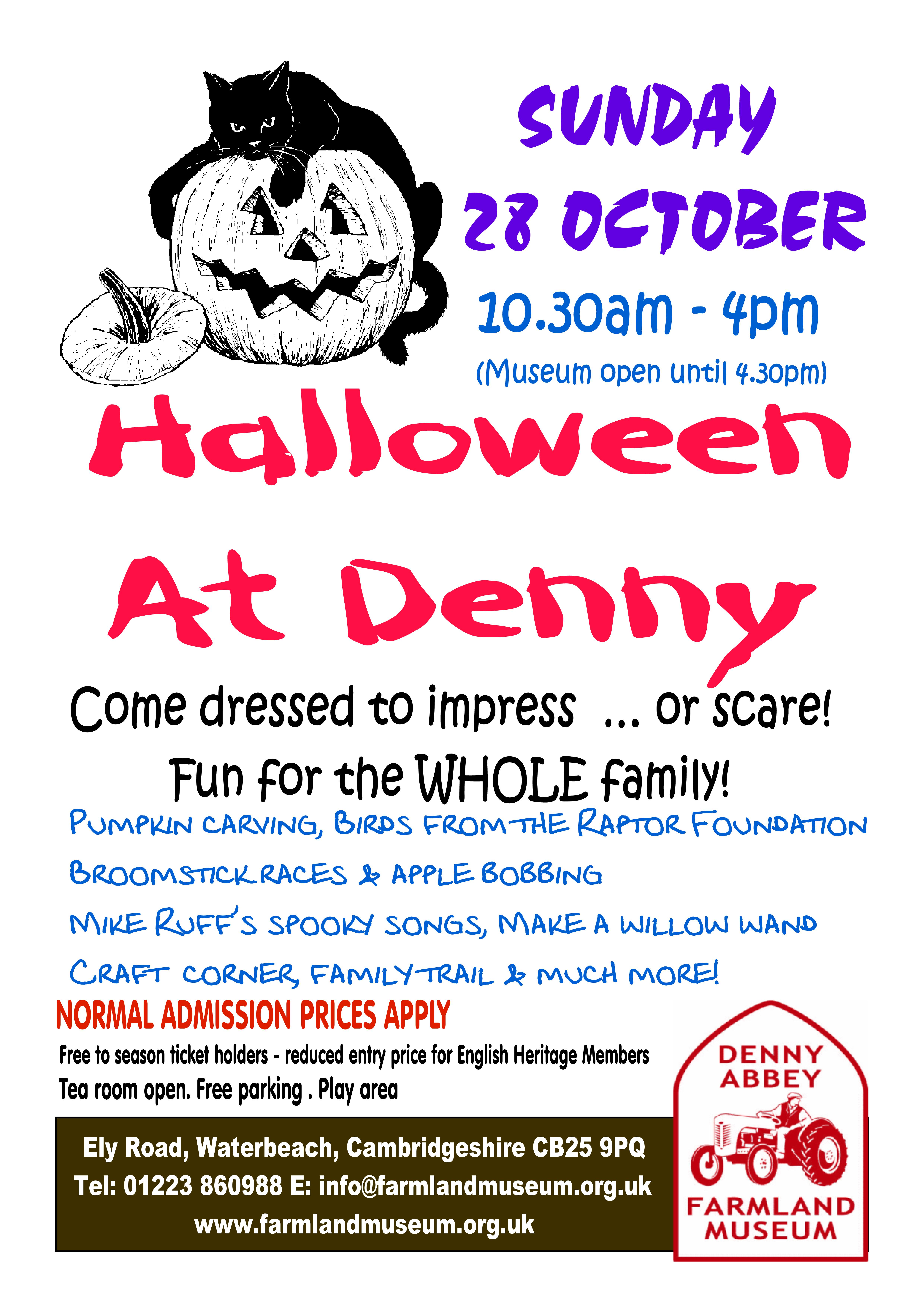 Halloween at Denny | For children | Farmland Museum and Denny Abbey