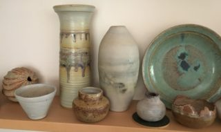 Pots and vases by Bunty Mitchell