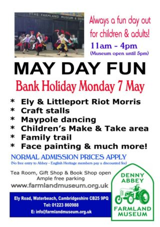 MAY DAY MONDAY  - SPEND IT AT DENNY!