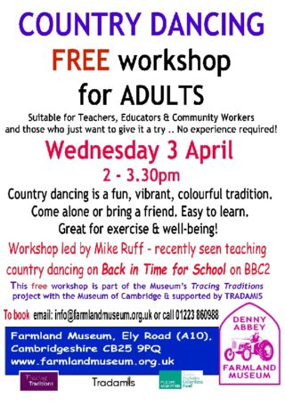 FREE COUNTRY DANCING WORKSHOP FOR ADULTS in April