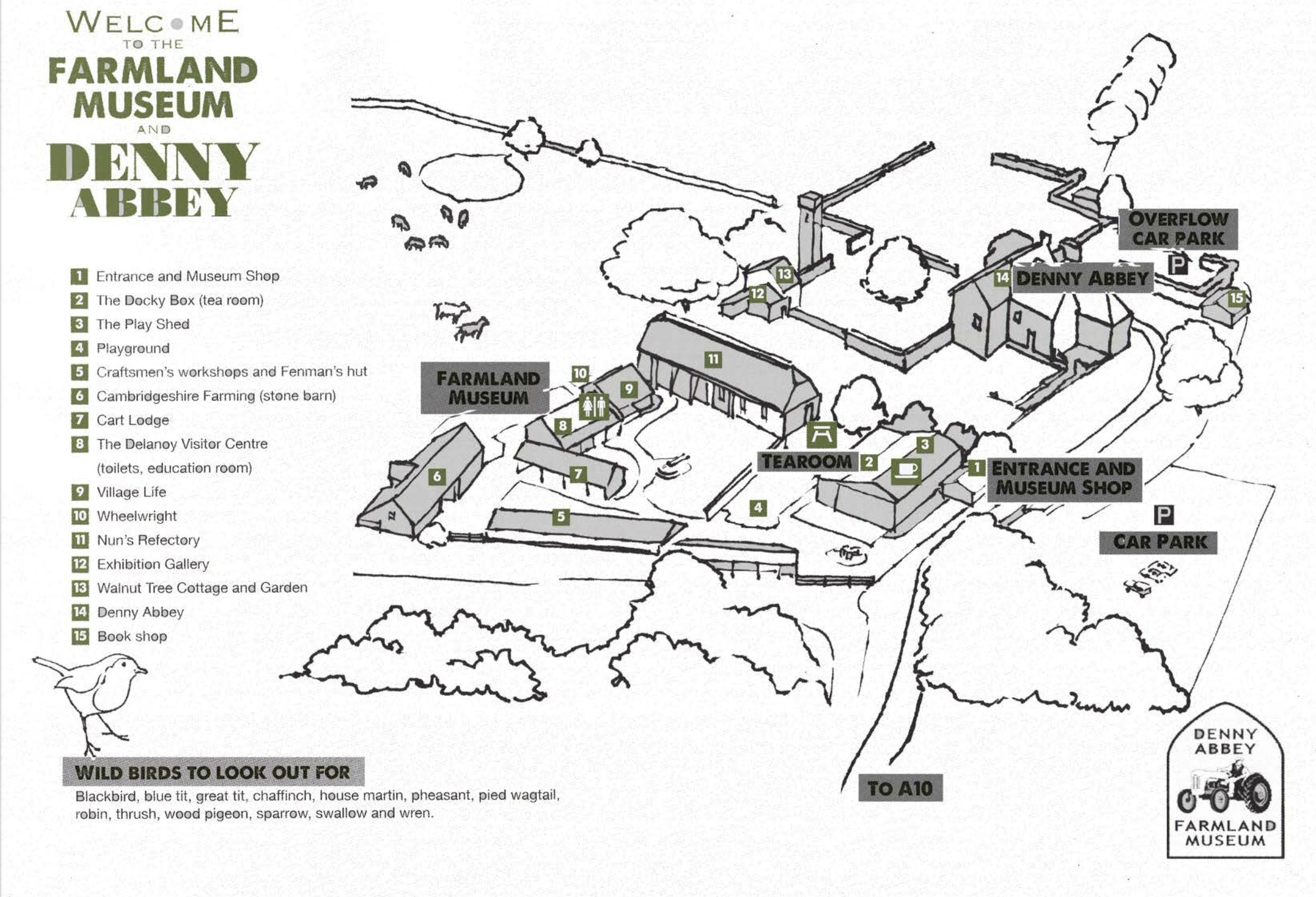 Farmland Museum & Denny Abbey Map
