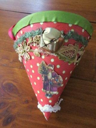 Cornucopia paper cone Christmas Decoration