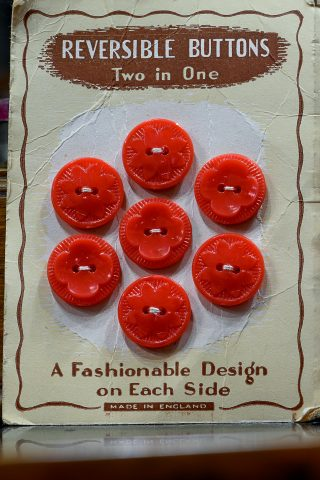 Red Reversible Buttons
