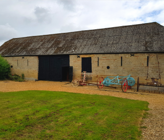 Exterior image of stone barn